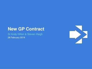 The New GP Contract
