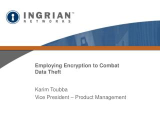Employing Encryption to Combat Data Theft