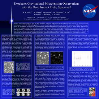 Exoplanet Gravitational Microlensing Observations  with the Deep Impact Flyby Spacecraft