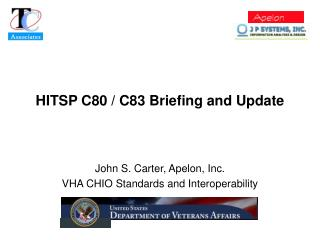 HITSP C80 / C83 Briefing and Update
