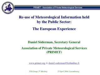 PRIMET - Association of Private Meteorological Services