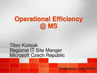 Operational Efficiency @ MS