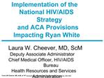 Implementation of the National HIV