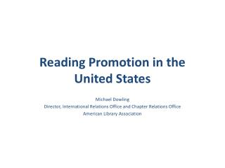 Reading Promotion in the United States