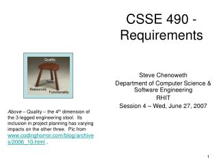 CSSE 490 - Requirements