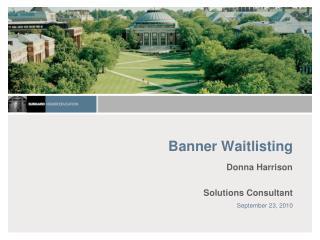 Banner Waitlisting
