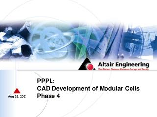 PPPL: CAD Development of Modular Coils Phase 4