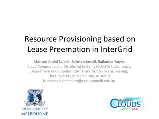 Resource Provisioning based on Lease  Preemption  in  InterGrid