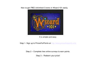 How to get FREE Unlimited Crowns in Wizard101