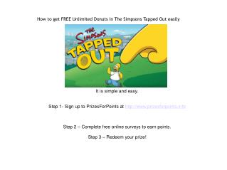 How to get FREE Unlimited Donuts in The SImpsons Tapped Out