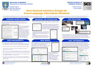 User-Centred Interface Design for Cross-Language Information Retrieval
