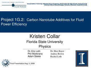Kristen Collar Florida State University Physics