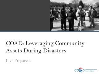 COAD: Leveraging Community Assets During Disasters