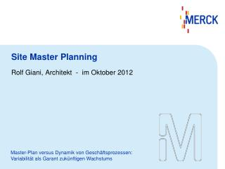 Site Master Planning