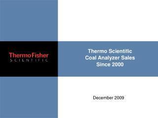 Thermo Scientific Coal Analyzer Sales Since 2000