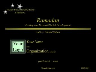 Ramadan Fasting and Personal/Social Development