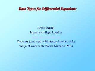Abbas Edalat Imperial College London doc.ic.ac.uk/~ae