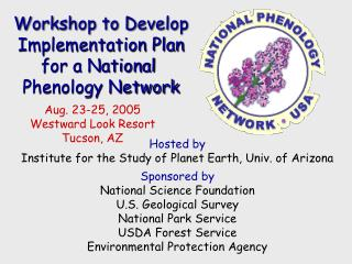 Workshop to Develop Implementation Plan for a National  Phenology Network