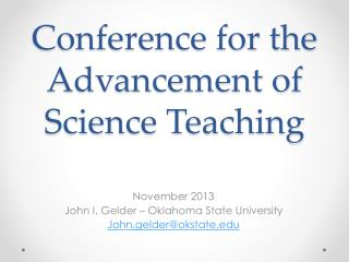 Conference for the Advancement of Science Teaching
