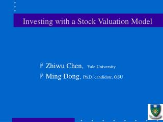 Investing with a Stock Valuation Model