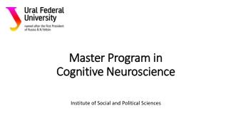 Master Program in Cognitive Neuroscience