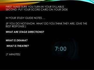 WHAT IS THEATRE?