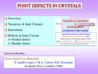 POINT DEFECTS IN CRYSTALS