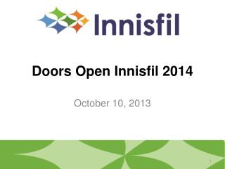 Doors Open Innisfil 2014