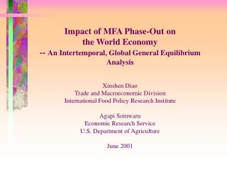 Impact of MFA Phase-Out on