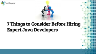 7 Things to Consider Before Hiring Expert Java Developers