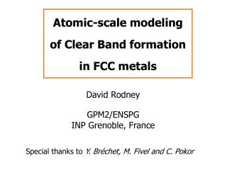 Atomic-scale modeling of Clear Band formation in FCC metals