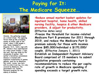 Paying for It: The Medicare  Squeeze…