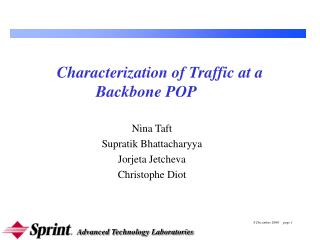 Characterization of Traffic at a Backbone POP