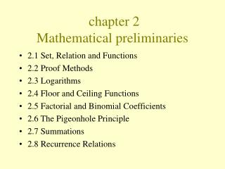 chapter 2  Mathematical preliminaries