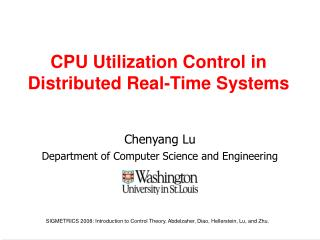 CPU Utilization Control in Distributed Real-Time Systems