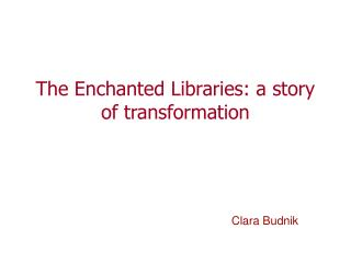The Enchanted Libraries: a story of transformation