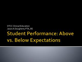 Student Performance: Above vs. Below Expectations