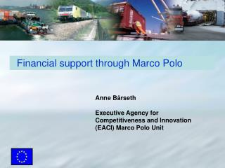 Financial support through Marco Polo