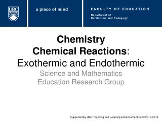 Chemistry Chemical Reactions : Exothermic and Endothermic