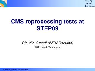 CMS reprocessing tests at STEP09