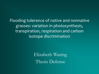 Elizabeth Waring Thesis Defense
