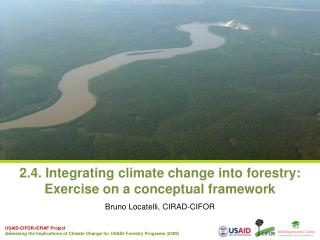 2.4. Integrating climate change into forestry:  Exercise on a conceptual framework