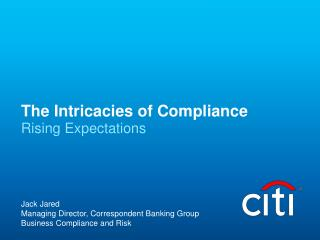 The Intricacies of Compliance