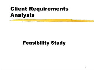 Client Requirements Analysis