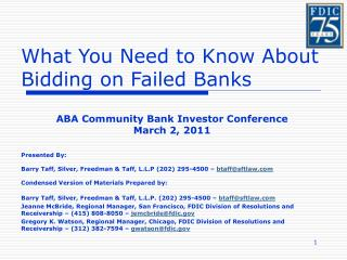 What You Need to Know About Bidding on Failed Banks