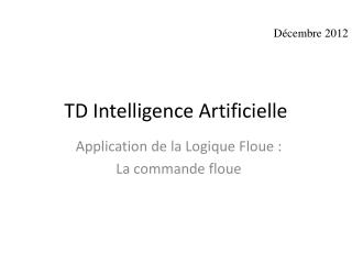 TD Intelligence Artificielle