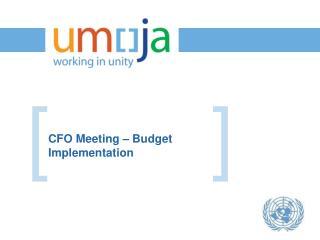 CFO Meeting – Budget Implementation
