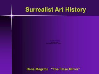 Surrealist Art History