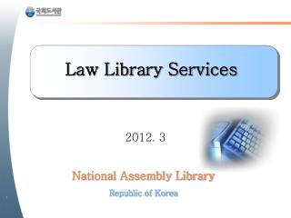 National Assembly Library Republic of Korea