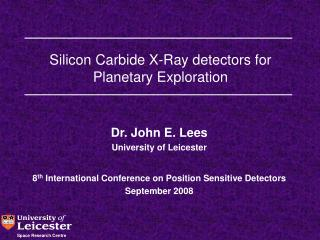 Silicon Carbide X-Ray detectors for Planetary Exploration